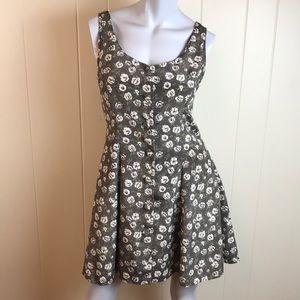 Vintage 90s Button Down Fit & Flare Skater Dress